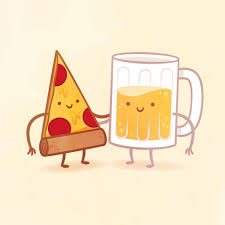 beer cartoon pizza and beer by philip tseng u2013 iam8bit