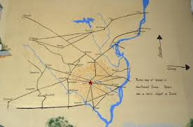 Map Of Iowa Towns Iowa Map Underground Railroad