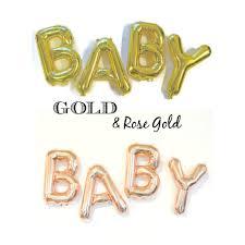 baby balloon garland gold letter balloons baby shower decor