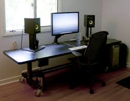 Ergonomic Computer Desk Setup Creative Of Gaming Computer Desk Setup Home Design Ideas With