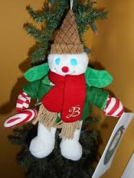 2003 mr bingle 10 plush snowman doll ornament new