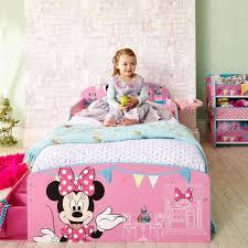 Chambre Enfant Minnie - minnie mouse lit enfant en bois avec rangements 70 140 cm