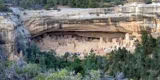Pueblo Adobe Houses by Mesa Verde Cliff Dwellings Of The Anasazi