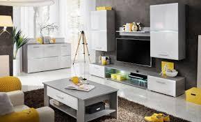 wohnzimmer komplett wohnzimmer komplett set pongola a 6 teilig farbe grau weiß