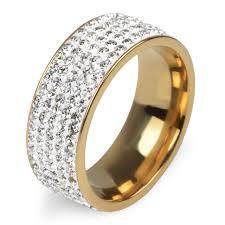 love wedding rings images 5 rows crystal stainless steel ring women for elegant full finger jpg