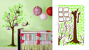 decorating kid room with interesting kids wall decals interior green color kids room design with wall decals trees and photo frame