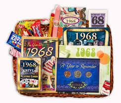 anniversary present anniversary gift basket for 1968