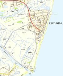 Easton Map Suffolk Maps