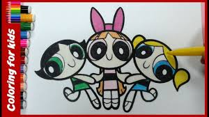 cartoon network coloring pages color powerpuff girls