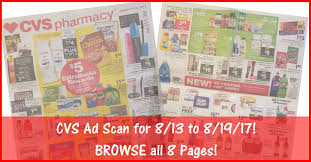 cvs black friday 2017 cvs ad scan for 8 13 to 8 19 17 browse all 8 pages