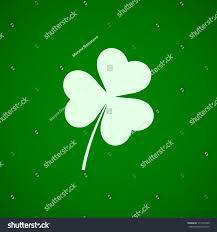 three leaf clover icon st patricks stock vector 571657849
