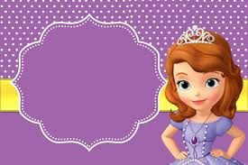 Printable Party Invitation Cards Sofia The First Free Printable Invitations Sofia The First Bday