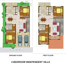 villa floor plan conseptz 4 bedroom independent villa floor plan
