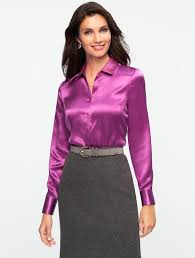 purple silk blouse european and fashion quality sleeve silk