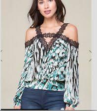 bebe blouses bebe s shoulder sleeve tops blouses ebay