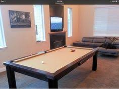 Convertible Pool Table by Modern Pool Table In Oak Colour 0 With Slate Blue Cloth Our