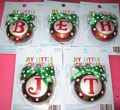 my initial ornaments green polkadots ebay