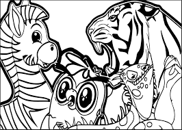 abc animal zebra lion coloring page wecoloringpage