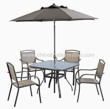 Patio Dining Sets With Umbrella Captivating Metal Outdoor Dining Sets Wholesale Garden Wood Metal