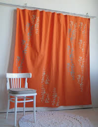 orange and blue combination single and combination on burnt orange curtains house interior