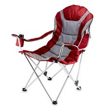 Sleeping Chairs Amazon Com Picnic Time Portable Reclining Camp Chair Black Gray