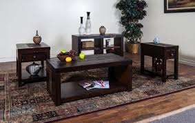the alluring touch of dark wood coffee table set coffe table