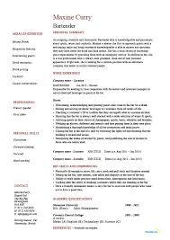 resume template for bartender 28 images bartender resume exle