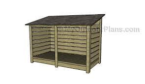 Plans For Building A Firewood Shed by 9 Free Firewood Storage Shed Plans Free Garden Plans How To