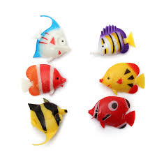 6pcs aquarium fish tank artificial fish multicolor fish ornament