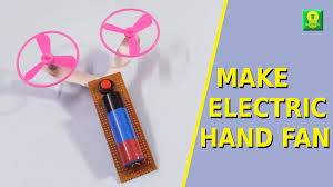 how to make an electric fan at home