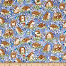 hedgehog wrapping paper hedgehog hedgehogs blue discount designer fabric