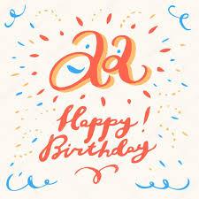 22th happy birthday card u2014 stock vector alexgorka 95360906