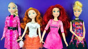 Ariel Clothes For Toddlers Disney Princess Doll Dress Up Elsa Merida Ariel Cinderella Barbie