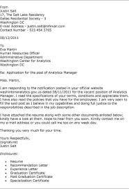 cover letter for residency