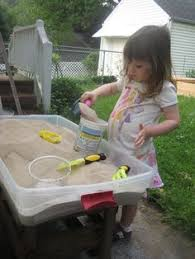 rice table for kids make a simple sensory rice table sand table sensory play and plays