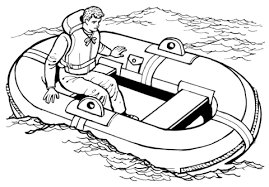 man raft on lake water coloring page transportation 25 free