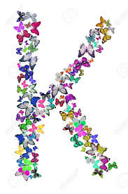 butterfly font in white letter k stock photo picture and royalty