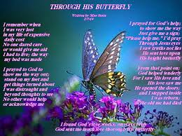 through his butterfly spiritual poetry