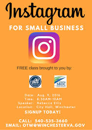 Business Class Email by Instagram For Small Business Classold Town Winchester