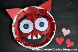 paper plate love monster kid craft
