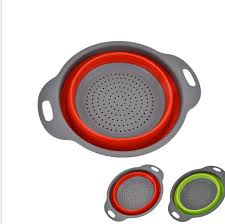 passoire de cuisine 2 pcs ensemble pliable silicone passoire de cuisine pliante