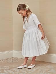 communion dress chic communion dress in white cotton childrenchic