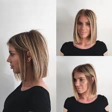 women u0027s chic blunt blonde bob with highlights medium length hairstyle