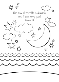 creation coloring sheets kids sunday day god for creation