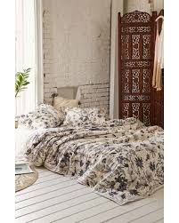 Brown And Cream Duvet Covers Fall Into Savings On Plum U0026 Bow Scattered Flowers Duvet Cover