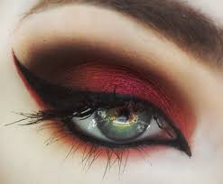 halloween makeup eyes the mad hatter u0027s asylum red eyeshadow tutorial youtube