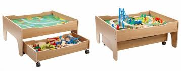 Kidkraft Train Table Natural 17851 Train Table With Drawer Chest Of Drawers