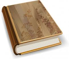 Notebook Cover Decoration 3d Book Icon Wooden Cover Design Flowers Decoration Vectors Stock