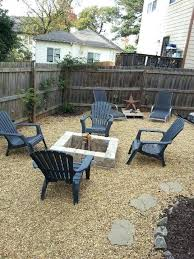 Firepit Area Gravel Pit Area Pea Gravel Pit Area Home Backyard