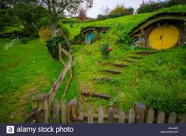 north island new zealand may 16 2017 hobbit house with yellow north island new zealand may 16 2017 hobbit house with yellow door hobbiton movie set site made for movies hobbit and lord of the ring in matam
